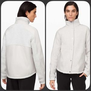 Lululemon Go Cozy Jacket Heathered Ceramic 10